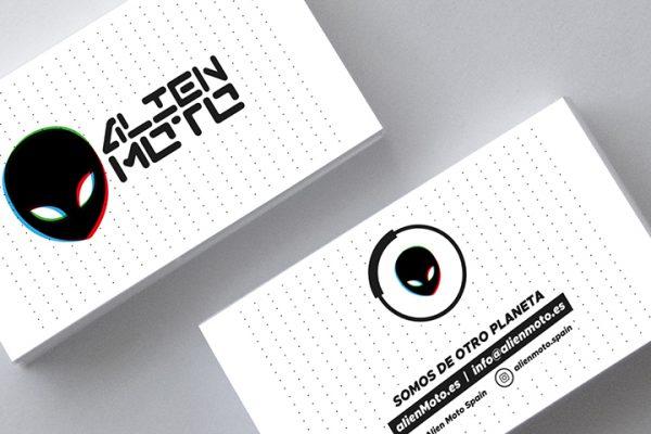 Alien Moto tarjetas de visita