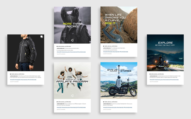 Andromeda Moto campaña Instagram social media