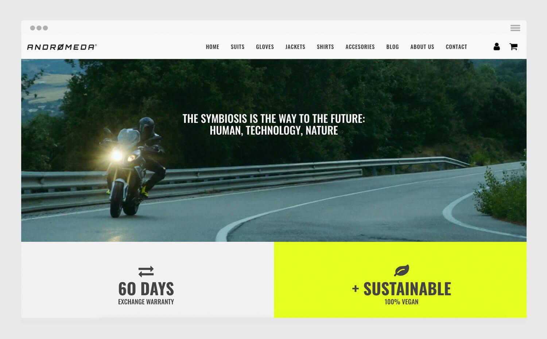 Andromeda Moto diseño marca tienda online marketing digital