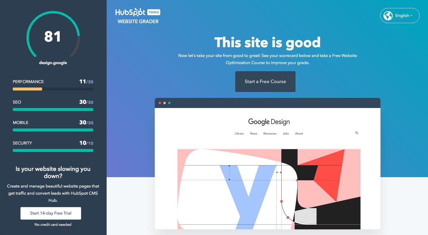 Website Grader herramientas para mejorar el posicionamiento web